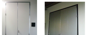 Large swing hospital clean room airtight door support Customized size