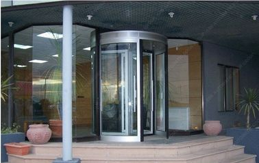 চীন 12mm Aluminum Alloy Automatic Revolving Door For Hotel ISO9001 সরবরাহকারী