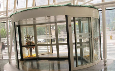 চীন 2 Wing Stainless steel  frame Automatic Revolving Door for Hotel / Bank / Airport সরবরাহকারী