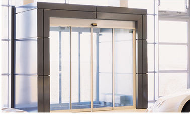 চীন Brown Door Frame Commercial Automatic Sliding Doors With Maintenance Free Motor কারখানা